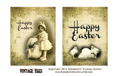 Ephemera's Vintage Garden: Weekly Freebie: Vintage Easter Eggs