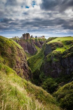 """Dunnotar Castle by Pablo Gómez Ayuso. [""""Other Worlds"""" - fictional landscapes crafted from real-earth photographs. Get inspired! http://matthewbrennan.net - short stories, blog, translation, editing.]"""