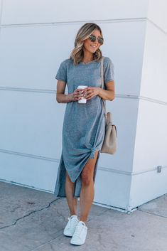 Elegant Shirt Dress Outfit Ideas For Spring And Summer - Trend Outfits Summer Dress Outfits, Casual Dresses, Casual Outfits, Maxi Dresses, Jersey Dresses, Evening Dresses, Dress Summer, Ballerina Outfit, Mode Outfits