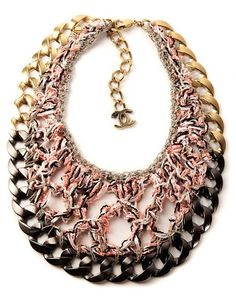 "Chanel's ""Crochet & Chain Link Necklace""...beautiful!"