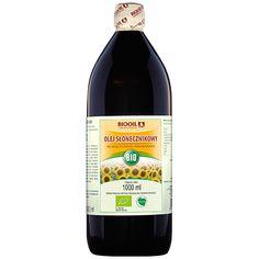 Olej słonecznikowy BIO - wysoka jakość, sprawdzony i wielokrotnie przebadany surowiec. Sprawdź jak smakuje nasz olej słonecznikowy BIO. Wine, Drinks, Bottle, Food, Drinking, Beverages, Flask, Essen, Drink