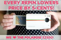 **UPDATE** We've upped it to .10¢ per pin!  Hai Pinners! Repin this pin *RIGHT NOW* and each pin will lower the price of the Z2300. Lowest possible price is ZERO →  photojojo.com/...