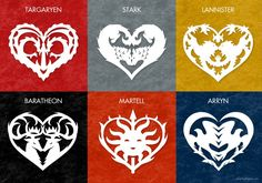 Free Valentines heart patterns inspired by Game of Thrones