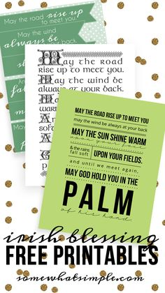 irish blessing free printable