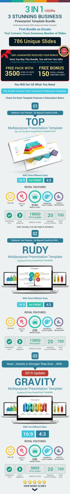 3 Stunning Business Powerpoint Template Bundle (PowerPoint Templates)