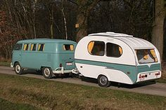 Westfalia Camper with Yvonne Mostard in my favorite color! Classic Trailers, Vintage Campers Trailers, Retro Campers, Camper Trailers, Caravan Vintage, Vintage Rv, Vintage Caravans, Truck Tent, Truck Camping