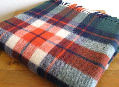 Vintage Plaid Wool Blanket by MarketHome on Etsy