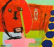 BACK TO THE FUTURE Hoke Outsider RAW Folk Abstract Art Brut Painting vISIONARY