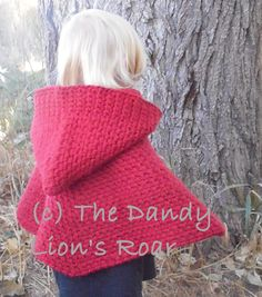 Instant PDF download crochet pattern for the Red Riding Hood Cape. Hand make the perfect little red riding hood costume, or wrap yourself in comfort for the cold months ahead. Nothing beats a homemade gift that is both beautiful and functional. **The pattern contains instructions for sizes infant, toddler, child and adult.** **This pattern is written in English, using US terminology.** No shipping charge, since this is an instant download. The files should be ready to download within 24…