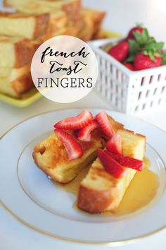 Who doesn't love a delicious plate of french toast and fresh fruits? Learn how to make these homemade french toast fingers.