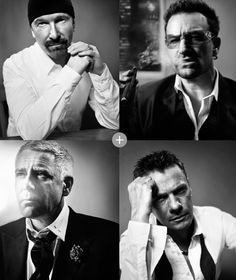 "Photos from GQ (British) 10/2011 issue, featuring U2 as ""Men of the Year."""