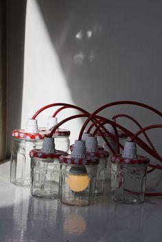 bonne maman lamps by esthermokka, via Flickr