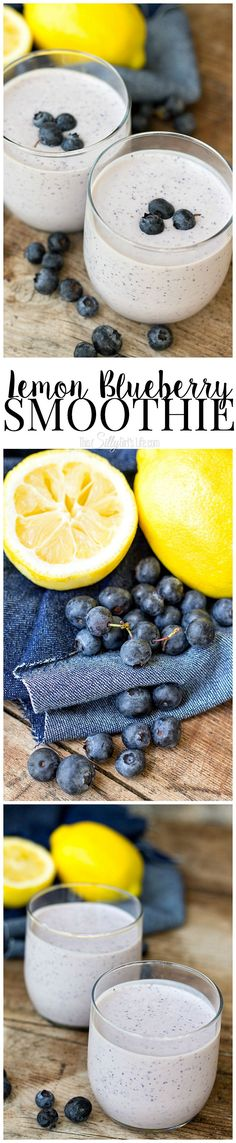 Lemon Blueberry Smoothie, fresh lemon and blueberries are mixed with cottage cheese for a protein-packed breakfast!