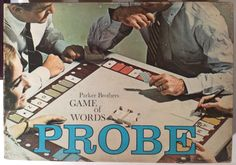 If you were born in 1964, that year Parker Brothers introduced a new board game called Probe.