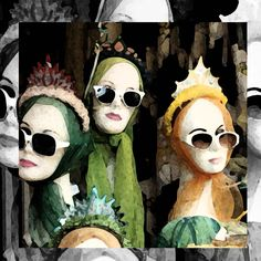 If you have mannequin heads you can use them in many different ways.