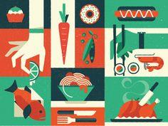 Food Inc by R A D I O // via dribbble.com