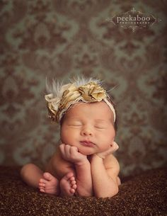 Love this headband... perfect for newborn photos