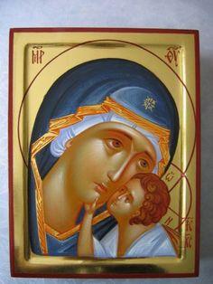 Kliknij aby obejrzeć w pełnym rozmiarze Byzantine Icons, Byzantine Art, Religious Icons, Religious Art, Orthodox Catholic, Blessed Mother Mary, Orthodox Icons, Ikon, Christianity