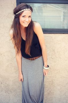 Cute summer outfit..those headbands just DON'T look like this on me!