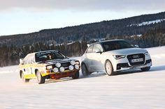 Audi Sport Quattro (1984, 419 PS) und Audi A1 quattro (2013, 256 PS).