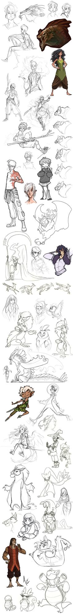 Sketchdump: Roughs and tumbles by Turtle-Arts.deviantart.com on @deviantART