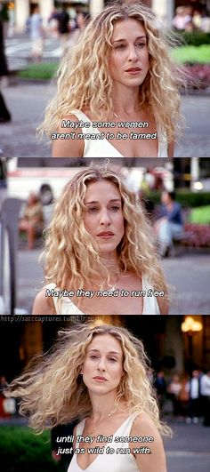Curly hair, dont care. #SATC #quotes