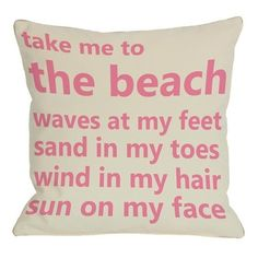 Beach Pillow.