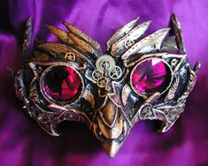 Steampunk mask - *sigh if only I could replace the purple things with actual prescription lenses, then id never take it off.
