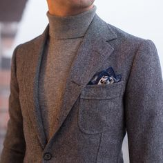 """paul-lux: """" Donegal bespoke jacket by Cashmere Rollneck by Charvet Gentleman Mode, Gentleman Style, Casual Chic, Men Casual, Inspiration Mode, Best Mens Fashion, Sharp Dressed Man, Suit And Tie, Stylish Men"""
