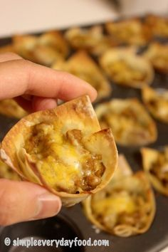 Yes! These are great!!! 8 minutes is the perfect cook time. Double the recipe for large groups. I filled my wontons up pretty full (about 3/4) and used a lot of cheese (about 1.5 tbsp), only ended up with about 18 taco cups.