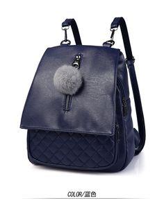 Occident and the United States style PUfashion bag (Dark gray)NHNR0277-Dark gray