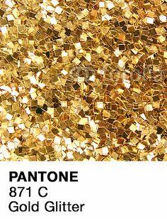 Pantone Gold Glitter   Sticker