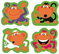 Supershapes Monkey Antics 184-208Pk Larger Size by Trend Enterprises Inc. $2.49