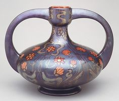 Vase Zsolnay factory   Date: ca. 1897 Culture: Hungarian (Pécs)