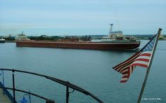 Happy Freighter Friday from Sault Ste. Marie, Michigan! The Soo Locks, located here, accommodate giant lake-faring vessels as they traverse the St. Marys River. Come visit us in the Sault to see big ships just like this going through the Locks! Thank you to Marc Svatora for the picture!
