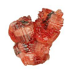"""Rhodochrosite cluster of """"barrel"""" crystals / N'Chwaning II Mine, South Africa"""
