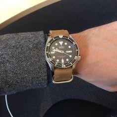 SKX007 on leather