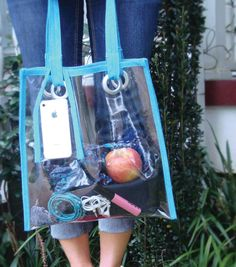 Here's a fun summer project! Make a clear Vinyl Tote at Joann.com using Dritz Home grommets and Dritz bias tape maker. #sewing