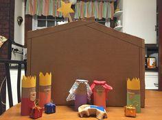 Toilet paper roll nativity set