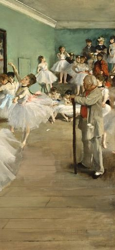 Edgar Degas: The Dance Class Degas Paintings, Amedeo Modigliani, Mary Cassatt, Edgar Degas, Post Impressionism, Paul Cezanne, Manet, Renoir, French Art