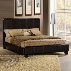 Homelegance Copley Dark Brown California King Upholstered Bed 8155K-1Ck