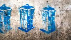 Bildergebnis für tardis streetart graffiti