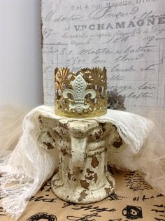 Replica Vintage Pettite Crown decoration cake topper center piece party favor or candle ring by lamoneeboutique on Etsy
