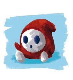 Shyguy by Omatarox on DeviantArt Shy Guy, Ppr, Guy Drawing, Super Mario Bros, Book Illustration, Disney Movies, Ladybug, Fan Art, Mario Kart