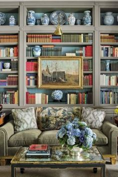 Ideal best home library designs just on neuron home design Cozy Library, Library Design, Library Art, Dream Library, Library Ideas, Home Libraries, World Of Interiors, White Interiors, Home Interior
