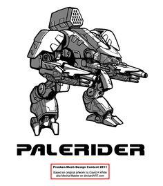 """FrankenMech 14 - """"Palerider"""" by Blazbaros on deviantART"""