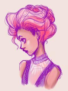 Greatest Showman, fan art, pink, purple, character design, sketch, rough, gesture lines, concept sketch