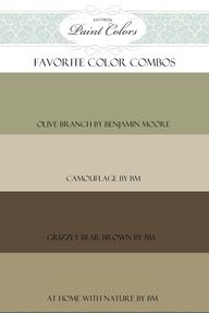 Benjamin Moore Blue Paint Colors | Benjamin Moore ... Olive Branch, Camouflage, Grizzly Bear Brown