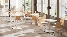 Montara650 Contemporary Cafe & Pedestal Bar Stools | Coalesse