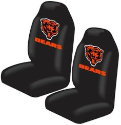 Chicago Bears Auto Seat Cover Universal Fit Set of Two Northwest.